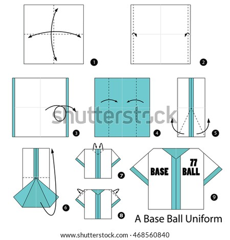 Step By Instructions How To Make Origami A Base Ball Uniform