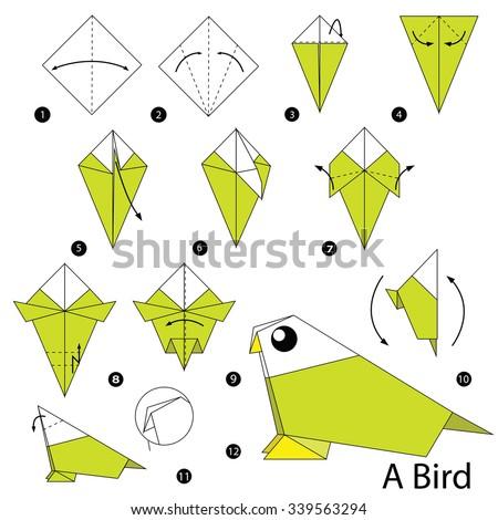 origami parrot banque d�images d�images et d�images