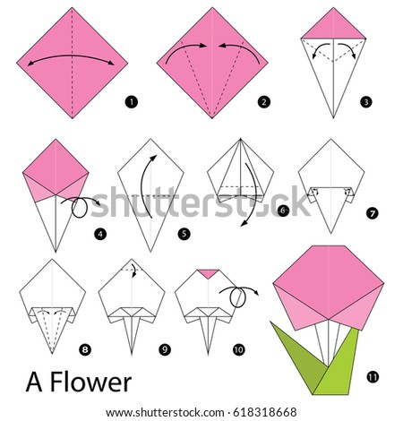 Flower Origami Fabric Flowers From Simple Shapes KumikoHow To Make An And A Leaf Spanish EyeOrigami Fold Beautiful Paper