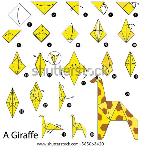 Origami Giraffe Picture Instructions | Tutorial Origami ... - photo#10