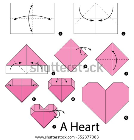 Steps To Make An Origami Heart