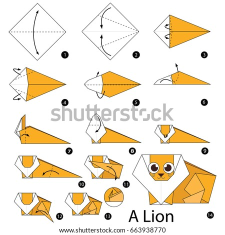 Step By Instructions How To Make Origami A Lion