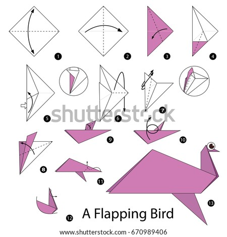 Step By Instructions How To Make Origami A Peacock