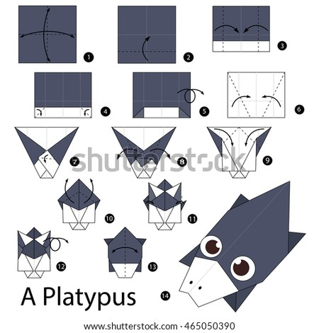 Step By Instructions How To Make Origami A Platypus