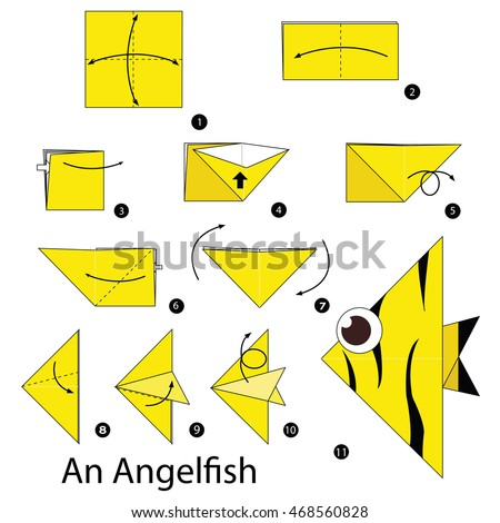 Angel fish stock images royalty free images vectors for How to make a star with paper step by step