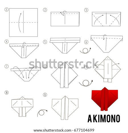 Step By Instructions How To Make Origami Kimono