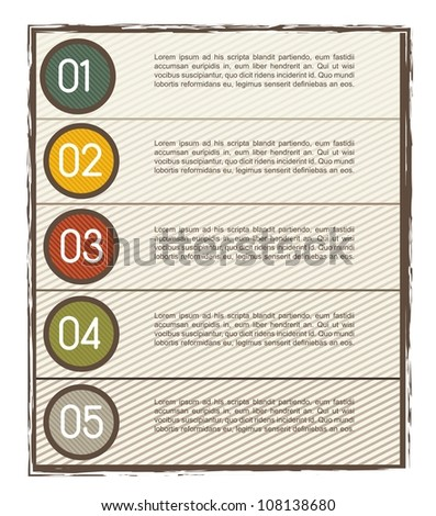 step by step with space for copy, vintage. vector illustration - stock vector