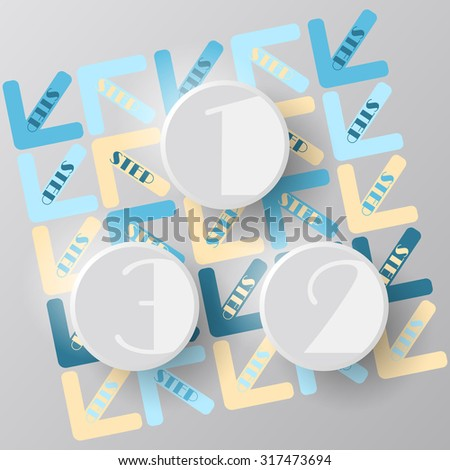 step circles, vector infographic - stock vector