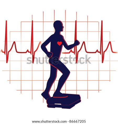 Step exercise icon vector - stock vector