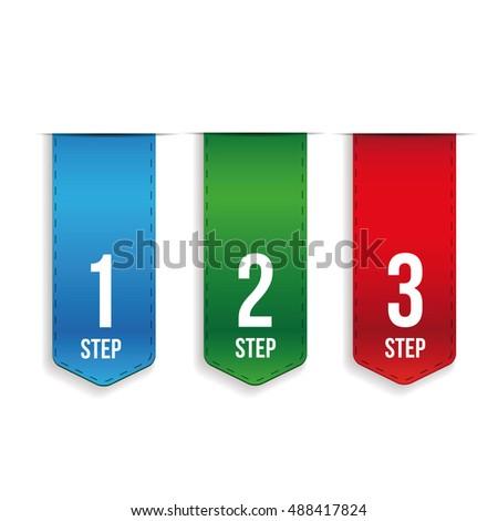 step one two three progress vector