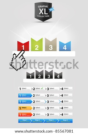 Step panels - stock vector