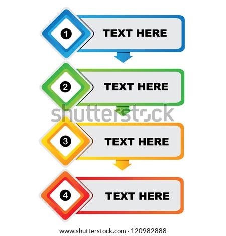 steps diagram, presentation template - stock vector