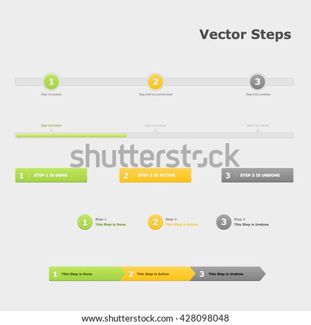 Steps infographic. Three steps