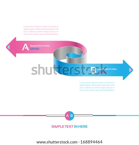 Steps paper strip template. Vector option strip chart.  EPS 10. RGB. All effects are created with simple gradient. No transparency, No mesh. File is layered with global colors.  - stock vector
