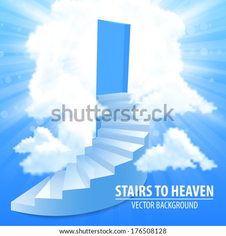 Steps, stairway to the sky - stock vector