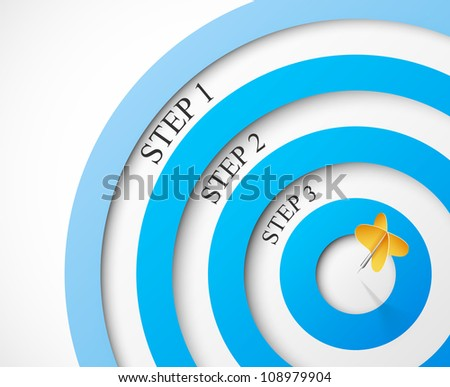 Steps to the target. Eps 10 - stock vector
