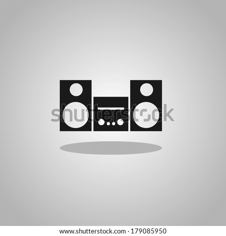 stereo sign - stock vector