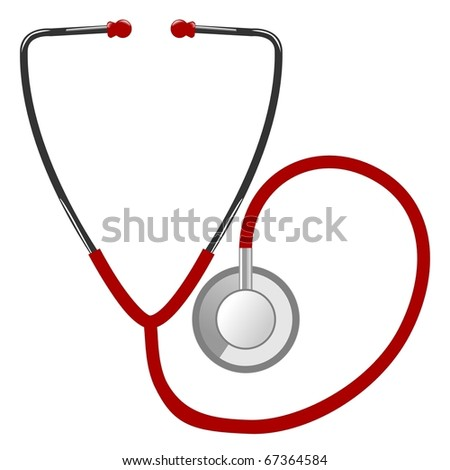 stethoscope - stock vector