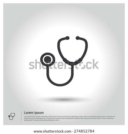 stethoscope Icon - stock vector
