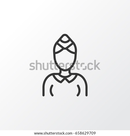 Stewardess Icon Symbol Premium Quality Isolated Stock Vector
