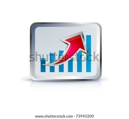 stick diagram icon on white - stock vector