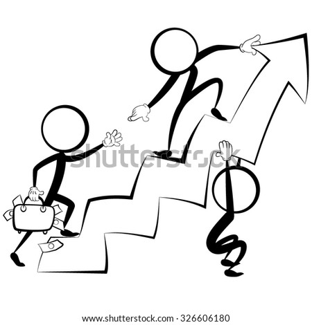stick figure and schedule 2 - stock vector