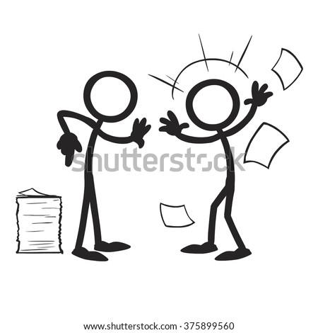 Stick Figure Confrontation paperwork