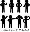 Stick figure icon set - stock vector