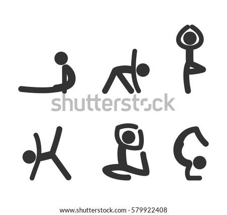 stick figure man karate sports wrestling stock vector