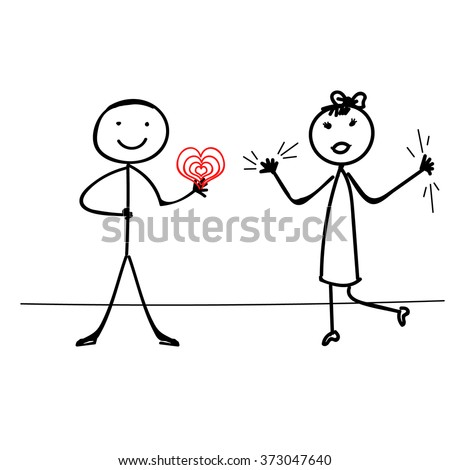 Stick Figure Vector t ,valentine's day couple