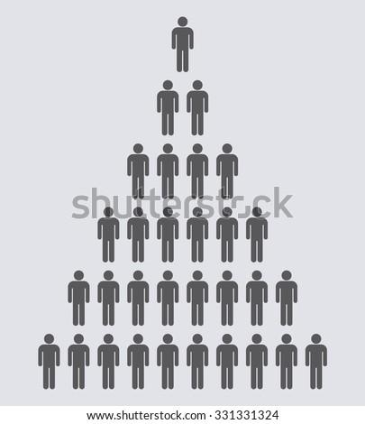 Stick man icon set . People icon . Vector illustration - stock vector