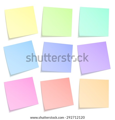 stick note isolated on white background, vector illustration - stock vector