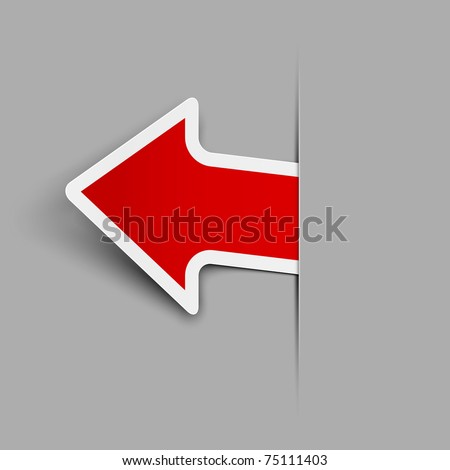 Sticker. Arrow. Vector illustration. Eps 10. - stock vector