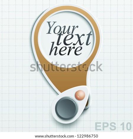 Sticker Label for text design. Vector illustration - stock vector