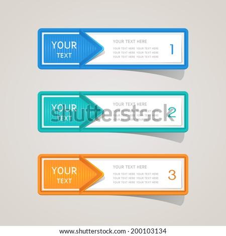 Sticker label paper colorful set - stock vector