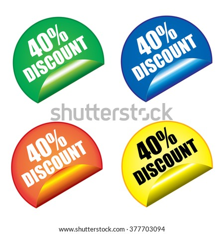 Sticker labels offer special discounts. - stock vector