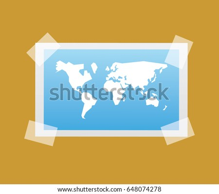 Sticker of the world in vector