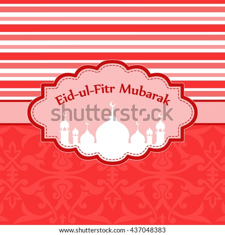 Must see Hajj Eid Al-Fitr Decorations - stock-vector-sticker-or-label-design-for-eid-al-fitr-celebration-design-decorated-frame-with-mosque-for-month-437048383  2018_793269 .jpg