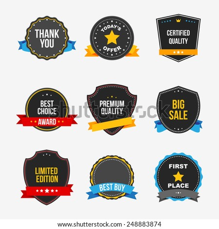 Sticker set - vector - stock vector