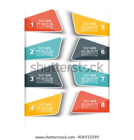 STICKER TEMPLATE VECTOR NUMBER OPTION FOR WEB BLUE THIRD EDITION - stock vector