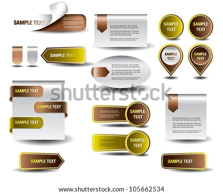 Stickers and banners set. Vector Eps10. - stock vector