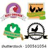 Stickers set with chicken meat on white background, vector illustration - stock vector