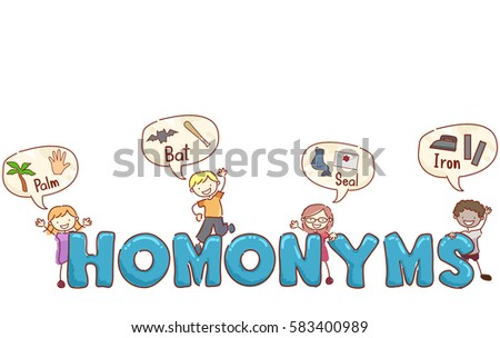 Stickman Illustration Preschool Kids Giving Examples Stock Vector