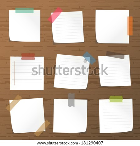 Sticks note paper