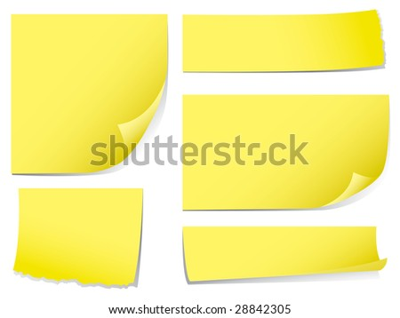 Sticky memo notes - stock vector