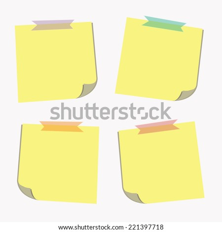 sticky note infographics. Vector
