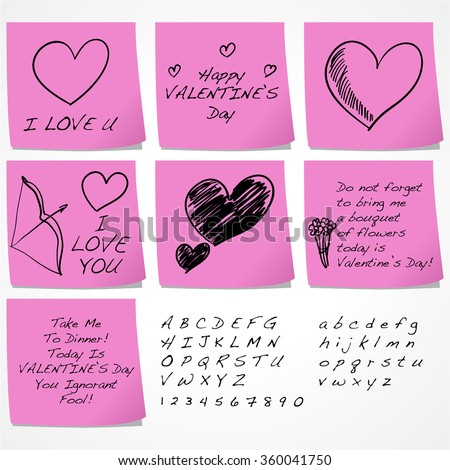 Sticky Notes With Funny Messages For Valentineu0027s Day