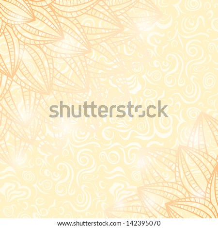 Still Life Faded Card with Yellow Flowers. Vector Illustration