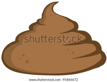 Stinky Pile Of Poop.Vector Illustration - stock vector