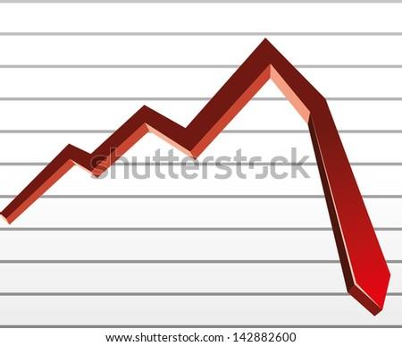 stock down - stock vector